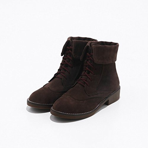 MissSaSa BOOTS DONNA VINTAGE BELLINA brown scuro