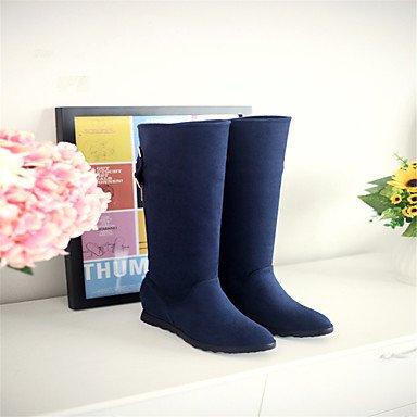 Wsx & Plm Women-tobillo-boots-boda Ocio Casual Zeppa-plush-black Azul Rojo Rojo