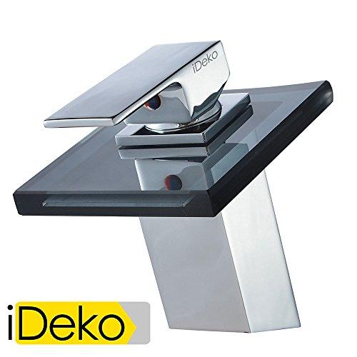 iDeko® Miscelatore rubinetto lavello bagno quadro getto