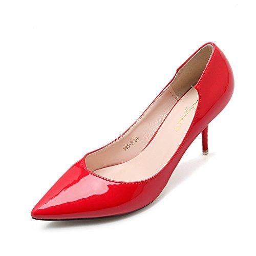 XTIAN , Escarpins peep-toe femme Rouge