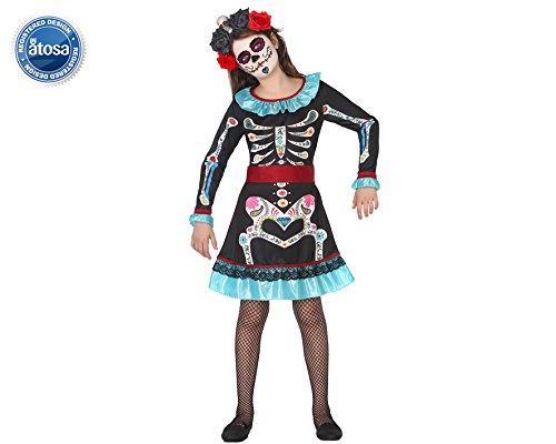 (ATOSA 34712 - Geist Catrina, Kostüm, Größe 140)