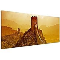 –Quadro da parete, Panorama 150x 50cm Quadro su tela grande muraglia della Cina