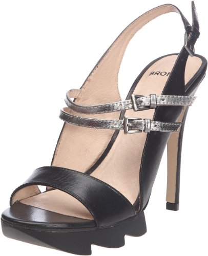 Bronx BX 301 83971-B, Sandali donna, Nero (Schwarz (black/steel 1)), 41