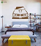 fancjj Vinyl Wandtattoo Retro Auto Transport Kinder Schlafzimmer Kunst Abnehmbare Dekoration Aufkleber 57X74 cm
