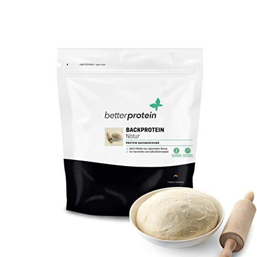 Backprotein -Eiweißpulver zum Backen 500g Neutral- Hergestellt in Deutschland - BetterProtein® - Pulver zum Backen von Low Carb Brot, Kuchen, Keks, Muffins oder Brownies - Backmischung