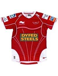 Scarlets 2013/14 - Maillot de Rugby Réplique Pro à Domicile MC Rouge