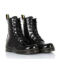 Sothe DM-2019 Beyaz Rugan Bağcıklı Bot Postal Kadın Ayakkabı