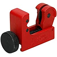 ECD Germany 3-22 mm Mini TagliaTubi Antiscivolo con Rotella Zigrinata con Fornitura in Metallo