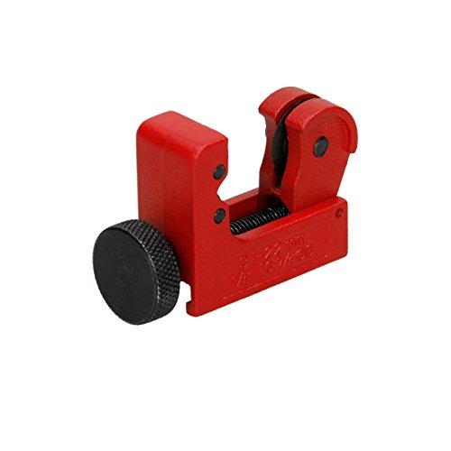ECD Germany Mini-Rohrschneider 3-22 mm 1/8inch-7/8inch Einstellbar aus Metall für Kupfer Messing Aluminium- und dünnwandige Stahlrohre Kupferrohrabschneider Rohrabschneider Schneidwerkzeuge