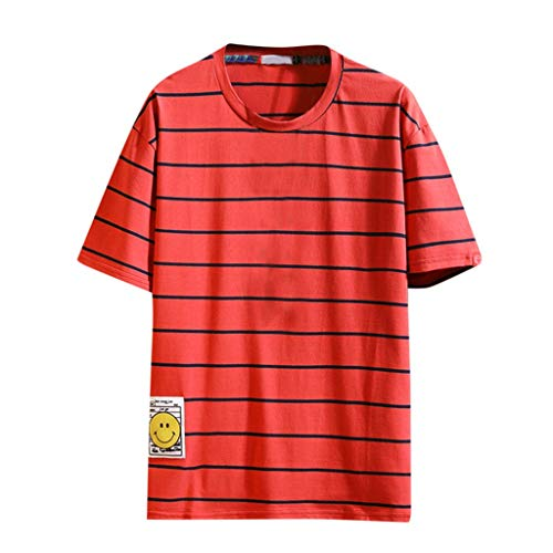 Lederhosen Kostüm Girl - Amoyl Männer Beiläufige große lose Druck-Kurzarm O-Ausschnitt T-Shirts übersteigt Bluse