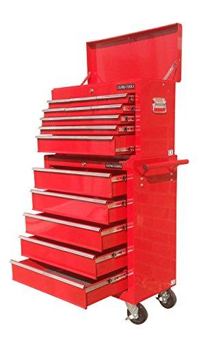 US PRO TOOLS Werkzeugwagen rot 9Schubladen Top. (Rot Tool Box Steel)