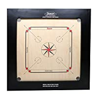 KD Surco Carrom Board Speedo Board Game Board Champion Bulldog Jumbo English Ply Wood Board with Coin, Striker & Powder, AICF Approved Used in National & International Tournament (28 mm, BullDog)