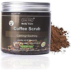 Exfoliant pour le visage Coquille à la noix de coco Gommage au café Exfoliant pour la peau Nettoyage en profondeur des particules corporelles