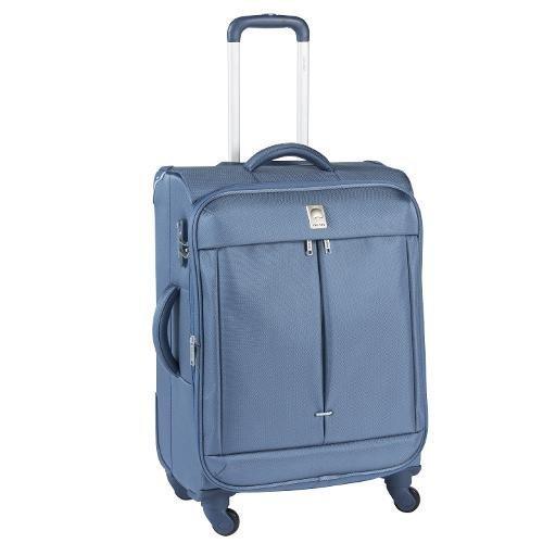 trolley medio Delsey Flight leggero- 4ruote -chiusura tsa a combinazione-espandibile -misure 65x46x29/35 peso kg 3,4 colore blu