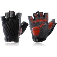 MaMaison007 INBIKE ciclismo guanti mezze dita guanti - maschio nero rosso blu -XL nero