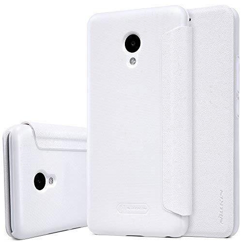 Kepuch Sparkle Meizu M5 Hülle - Smart PU Leder Hülle Tasche Case Cover für Meizu M5 - Weiß