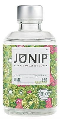 Infuseur bouteille de thé, eau et cocktail JUNIP | 100% BIO sans additifs artificiels ni sucres ajoutés | Faible en calories | lime