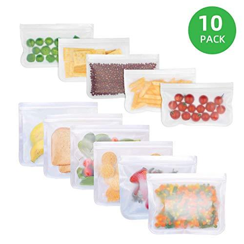 10 Pack Biodegradable Reusable Food Storage Bags