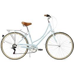 FabricBike Step-City Vélo pour Femmes, Bleu Ciel, Unique