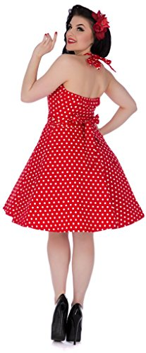 Dolly and Dotty Penny, Robe Femme Rot (red – Tie Belt Ah)