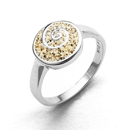DUR Schmuck Damen Ring Ring Sandspirale 925er Silber R4671