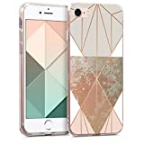 kwmobile Apple iPhone 7/8 Hülle - Handyhülle für Apple iPhone 7/8 - Handy Case in Beige Rosegold Weiß