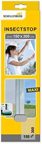 Schellenberg 50324 Moustiquaire fenêtre Maxi recoupable aux Dimensions souhaitées sans Ruban adhésif de Fixati