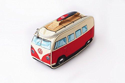 Preisvergleich Produktbild VW Bus Retro Isoliertasche, Kühltasche rot, Volkswagen Bully Lunch Bag, Bulli, Campervan. Das Original von ERRO. Tolle Geschenkidee, Picknick Tasche für VW-Fans, Weihnachtsgeschenk