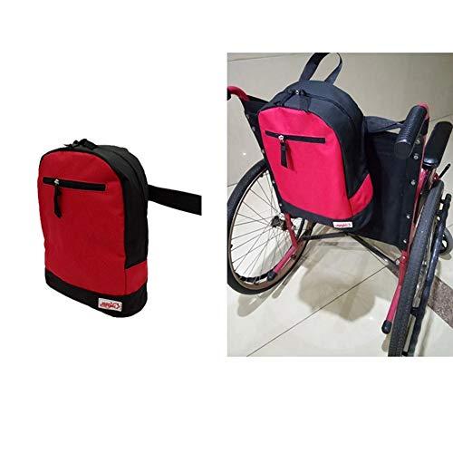 Bariatric Faltbare Rollstuhl (Rollstuhl Tasche, Zubehör Aufbewahrungstasche Zum Tragen Von Losen Artikeln Und Zubehör, Travel Storage Tote & Rucksack, Rot)