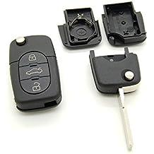 Carcasa para llave con telemando de 3 botones, para Audi 1, A, A3