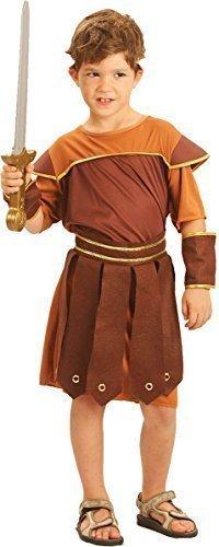 Kinder Phantasie Party Event Celebration Gladiator Römische Soldat Buch Woche Tag Kostüm - Braun, L