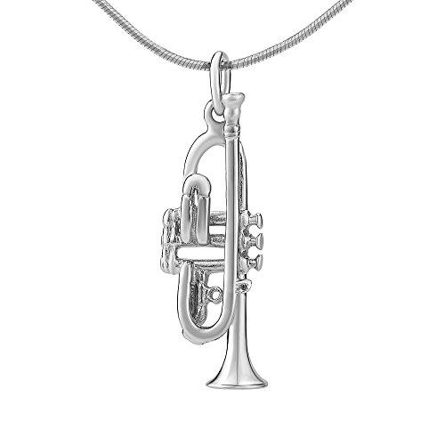 SILVEGO Ciondolo in Argento 925 Tromba con la Catena 45 cm