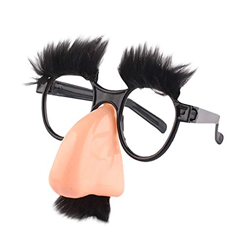 HKFV Fuzzy Nose Glasses Klassische Maske Polyester für Halloween, Weihnachtsfeier, Maskerade, Karneval, Hochzeit, Abschlussball, Modeschauen und Kostümparty