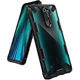 Ringke Fusion-X Designed for Redmi Note 8 Pro Case Back Cover, [Military Drop Tested] Transparent PC Back TPU Bumper Impact Resistant Protection for Xiaomi Redmi Note 8 Pro Back Cover Case - Black