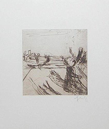 Germanposters Klaus Fussmann Quisnis Grafik Bild Radierung handsigniert 31,5x26,5cm (Radierung, Bilder)