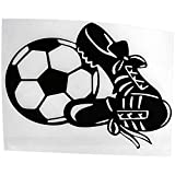 Black: Toogoo 14.5 cm * 11 cm Fashion Personality Football Shoes Car Stickers Creative Accessories