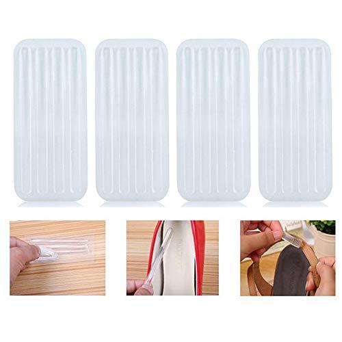 6 Sheets 24Pcs Clear Silikon selbstklebende Sandalen Anti-Kratz-Streifen Mehrzweck Anti-Rutsch-Abriebfest High Heel Liner Schutzpolster Aufkleber für Fußschutz Silikon-liner