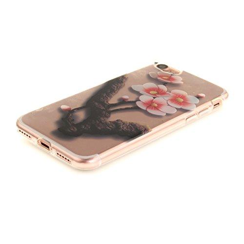 MOONCASE iPhone 7 Coque,Etui de Protection Coque Slim Antidérapant Case en TPU Gel Avec Absorption de Chocs pour iPhone 7 TX20 TX13