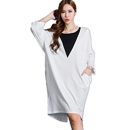 DMMSS Donne A Pelo Manica Maniche Lunghe In Cotone Pajamas Fuori ... 81de2d41298