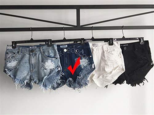 YUEKUOO Sommer Shorts for Frauen Casual Pocket Jeans (Color : Color 2, Größe : M) - Denim-zwei-pocket-shorts