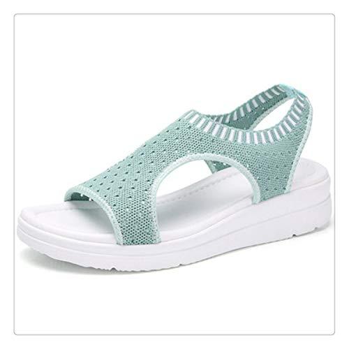 happy&live Women Sandals Summer 2019 Female Shoes Woman Wedge Comfortable Sandals Ladies Slip-on Flat Sandals Women Sandalias W509 4 6.5
