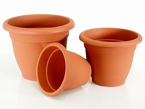 Euro 3 plast 3 2321 Vase Gardénias, 20 cm, marron
