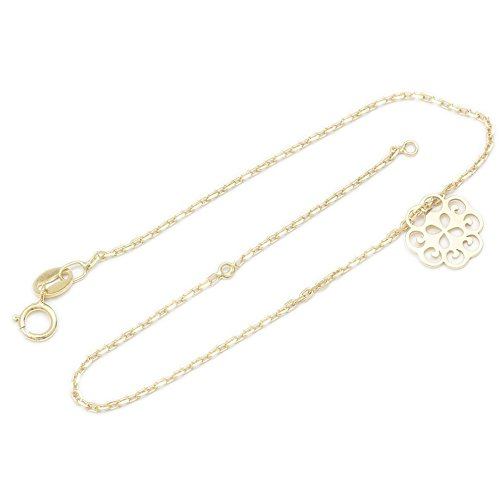ASS 925 Silber Damen Kinder Anker Kette Armband 17-19 cm Blume, vergoldet