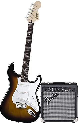 Chitarra Elettrica Fender Squier Stratocaster Bullet Colore Bsb + AMPLIFICATORE FENDER FRONTMAN 10G