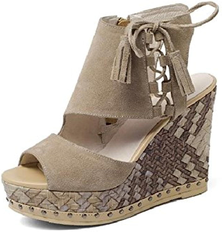 24dd009c3477 Chaussures 11cm Camel, Camel, Camel, sandales compensées de bouche  de poisson, plate-forme plate-forme plate-forme à talons.