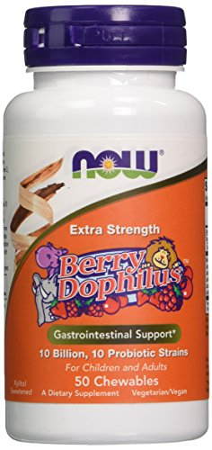 Berry Dophilus, Extra Strength, 50 Chewables - Now Foods - UK Seller - 41HQALvOWNL