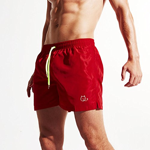 Herren Sports Shorts Badehose Block Swim Shorts Beach Shorts, 6 Farben  vorhanden Rot ...