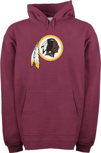 Washington Redskins Reebok Logo Premier Red Hooded Sweatshirt Felpa camicia