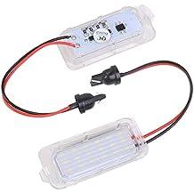 UNHO 2 Piezas 18 LED SMD Luces Matrícula Trasera Bombilla LED Color Blanco para Ford Focus