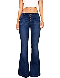1cc24c9621 Scofeifei Pantalones de Campana de Mujer Pantalones Cortos de otoño  Acampanados sólidos Ocasionales de otoño (
